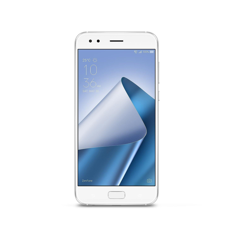 ASUS ZE554KL-S630-4G64G-WH ZenFone 4 5.5-inch FHD IPS 4GB RAM, 64GB storage LTE Unlocked Dual SIM Cell Phone, US Warranty, Moonlight White