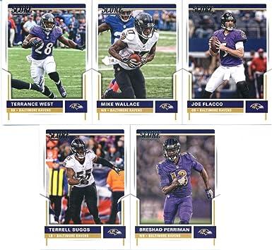 Amazon.com: 2017 Score Baltimore Ravens Veterans Team Set of 11 ...