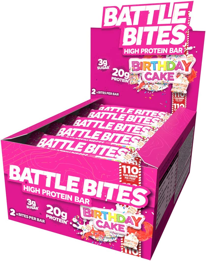 Pleasant Battle Bites High Protein And Low Carb Sugar Bars 12 X 62 G Birthday Cards Printable Benkemecafe Filternl