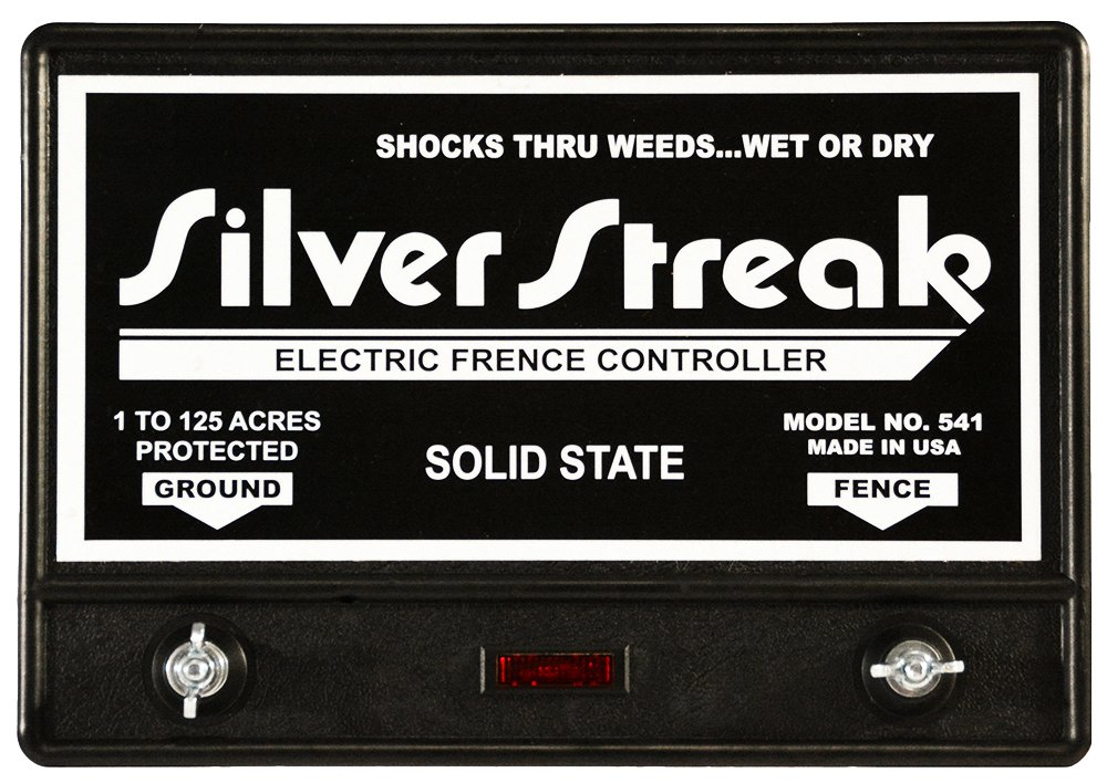 Silver Streak 541 20 Mile Solid State Electric Fence Charger/Free Lightning Diverter by Silver Streak
