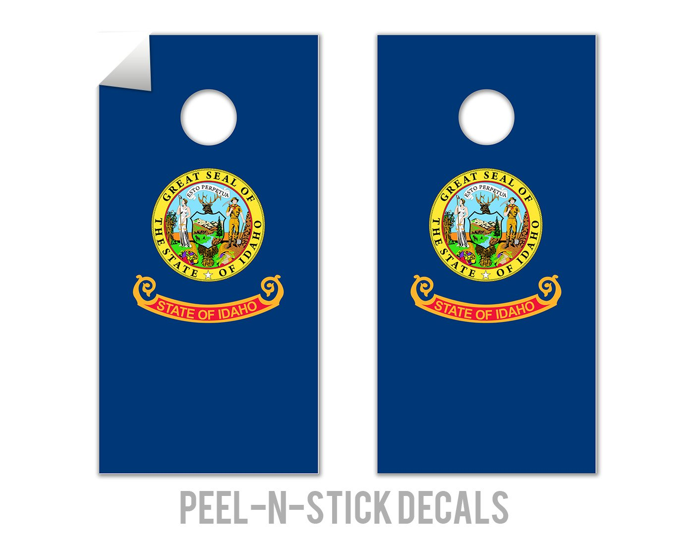 Idaho State Flag - Cornhole Crew - ACA Regulation Size Cornhole Board Decals by The Cornhole Crew
