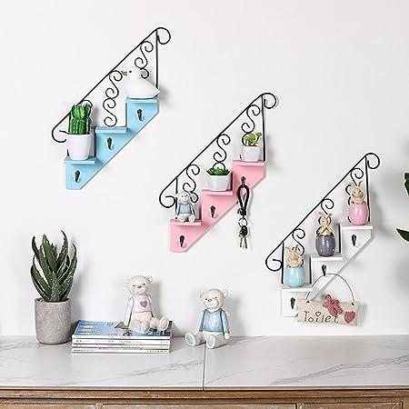shanzhizui Escaleras de Personalidad en casa Decoraciones de Pared de la habitación Adornos Colgantes de Pared, Pink: Amazon.es: Hogar