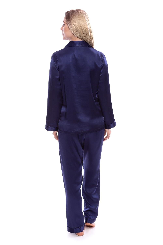 d8b31df319 TexereSilk Women s 100% Silk Pajama Set - Luxury Sleepwear Pjs (Morning  Dew) at Amazon Women s Clothing store