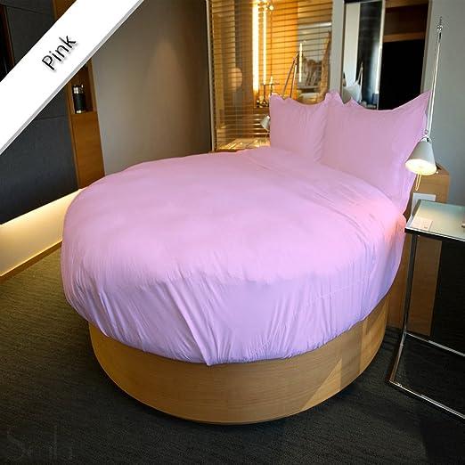 Noble Comfort Linen Juego de 3 sábanas bajeras Redondas con 66 cm ...