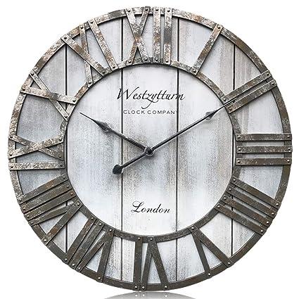 Amazoncom Westzytturm Rustic Big Clocks For Living Room Decor