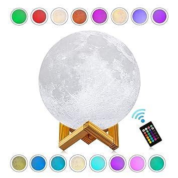 Amazon.com: Noche de Luna luz, logrotate LED lámpara de 16 ...