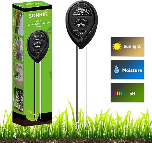 Soil PH Meter Light Tester Acid Alkaline Test Gardeners Garden Allotment UK