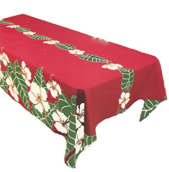 Tropical hawaiano flores tela comedor mantel 60 x 108 mantel para