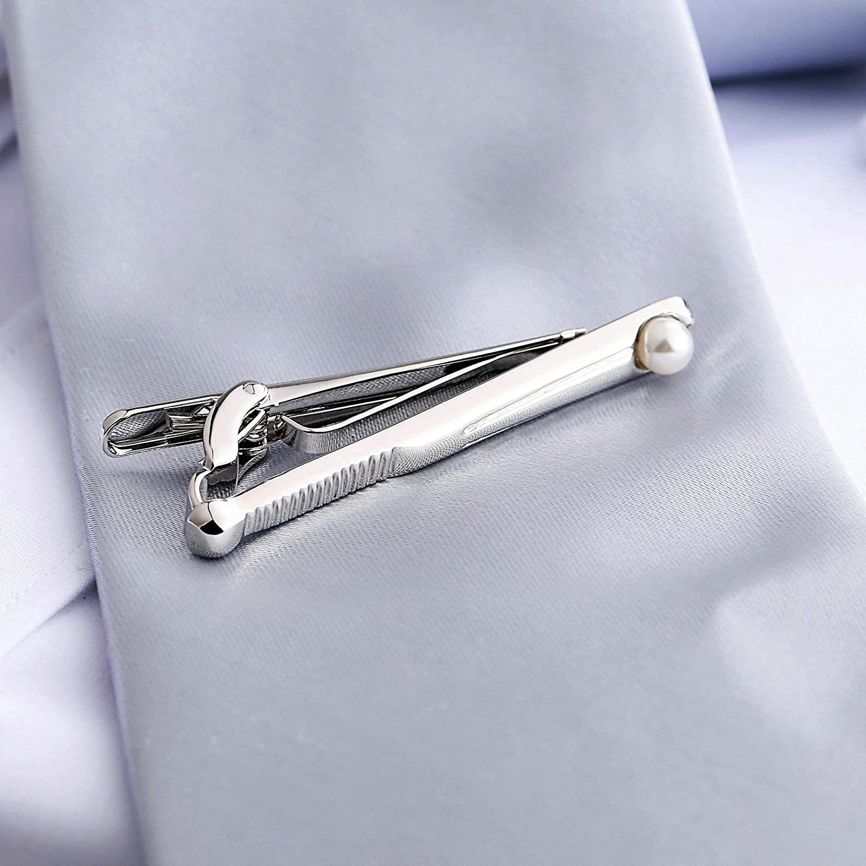 Aeici Pince À Cravate Homme Perle Pince Cravate Vintage