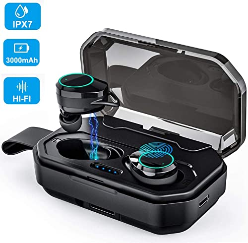Gamtec Boost Up Wireless Earbuds Headphones, iPX7 Waterproof Auto Pairing Earphones Headset Built-in Microphone, 100H Cycle Play Time, 3000mAh Charging Case, Hi-Fi Sound, Touch Operation – Amazon Vine
