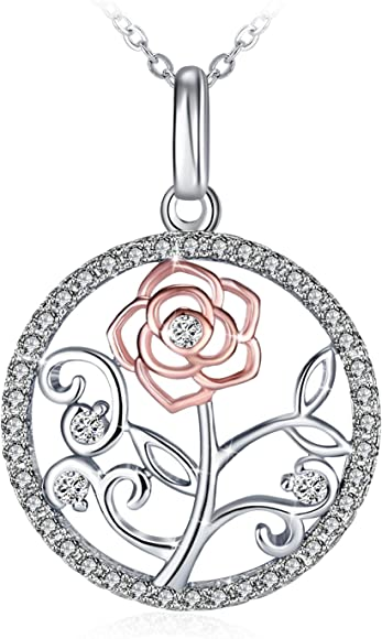 Aooaz Gold Plated Necklace Women Girl Hoop Pendant Necklace Silver Wedding