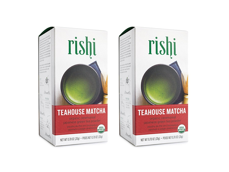 Rishi Organic Teahouse Matcha, Organic Japanese Green Tea Powder, 0.70 Oz (Pack of 2)