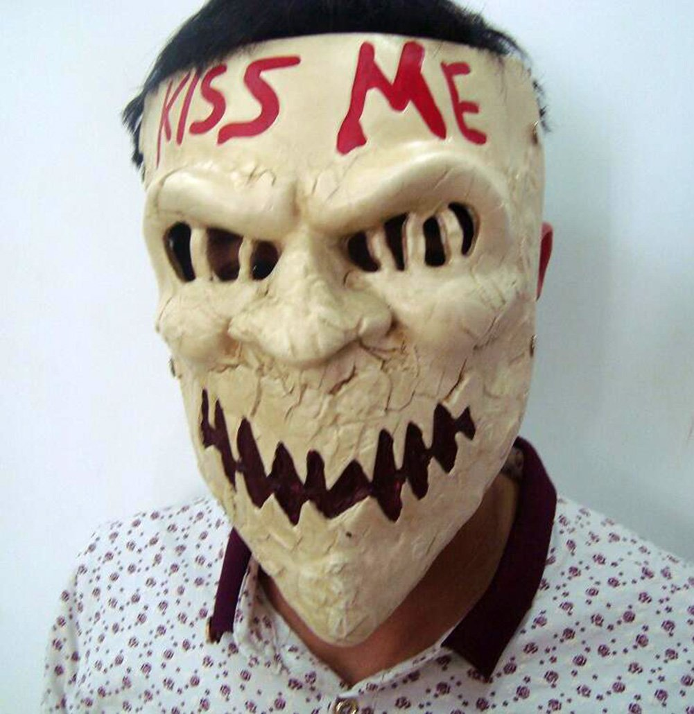 Amazon.com: Gmasking Resin Election Horror New Year Kiss Me Costume ...