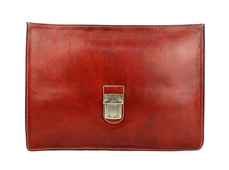 Cartera de cuero bolso de hombre bolso de mujer maletin de piel bolso de mano bandolera de piel bolso de cuero messenger bolso de espalda rojo: Amazon.es: ...