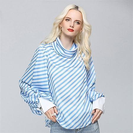 Azul Blanco Camisa a Rayas Azul Blanco Camisa a Rayas Moda ...