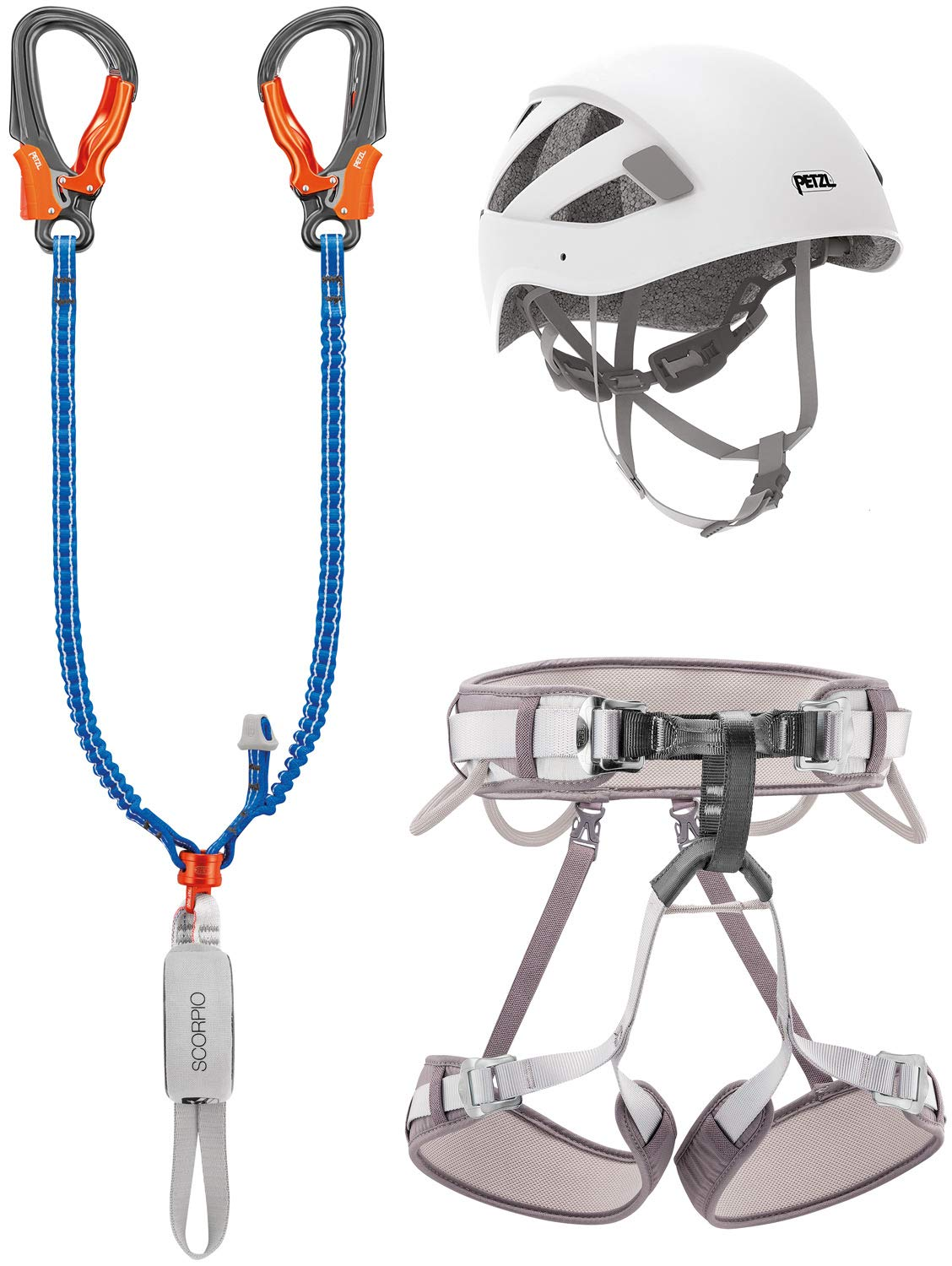 Petzl Kit Via Ferrata Eashook Corax T2, Set Unisex Adulto, 2 ...