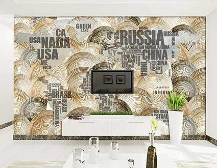 Wallpaper 3d Mural Simple Simple Wood World Map Wall Mural
