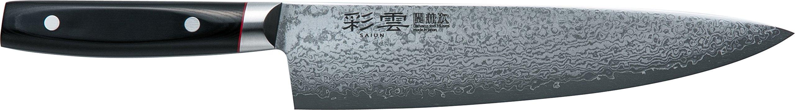 関兼次 Seki Kenji Hamono Japanese Knife ''Saiun'' Damascus Steel Stainless VG-10 Made in Japan (Beef Sword 230mm) Made in Japan