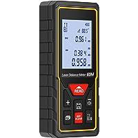 HD 60m Télémètre Laser Numérique Metre Laser, LESHP Professional Télémètre Laser Numérique Portable de Precision pour les Mesures de Volume/Surface/Angle/Pythagoricien