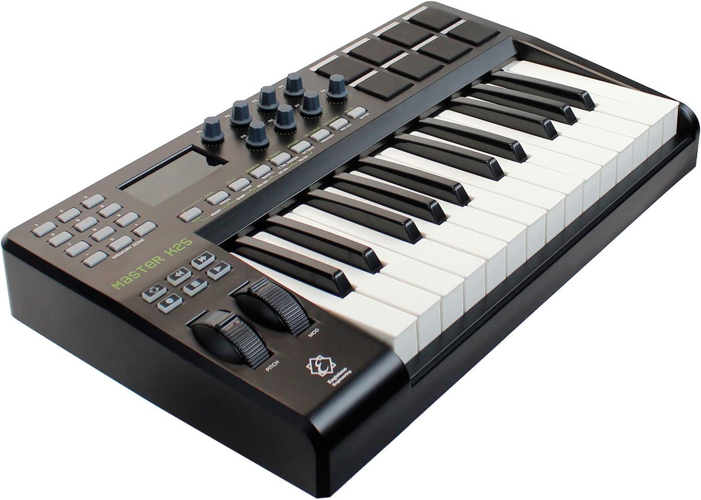 Eagletone K25 teclado maestro MIDI/USB de 25 teclas Negro ...