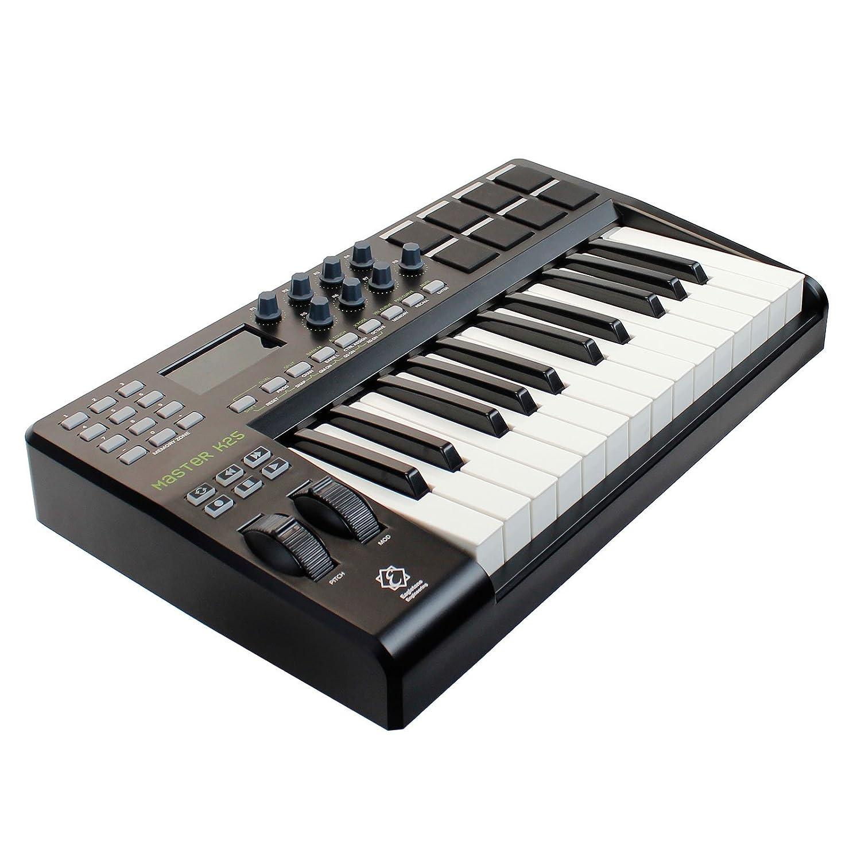 Eagletone K25 teclado maestro MIDI/USB de 25 teclas Negro: Amazon.es: Instrumentos musicales