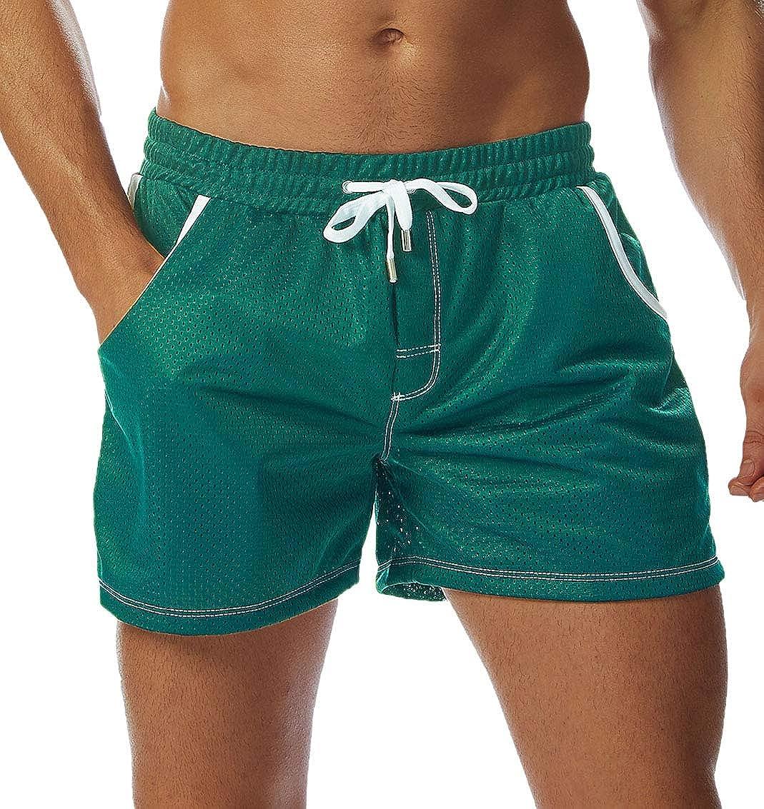 80s Men's Clothing | Shirts, Jeans, Jackets for Guys SILKWORLD Men's Mesh Short Athletic Shorts with Pockets $14.99 AT vintagedancer.com