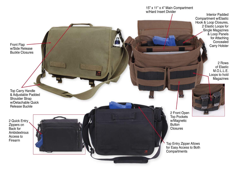 2d4cc985a8 Amazon.com  Rothco Concealed Carry Messenger Bag