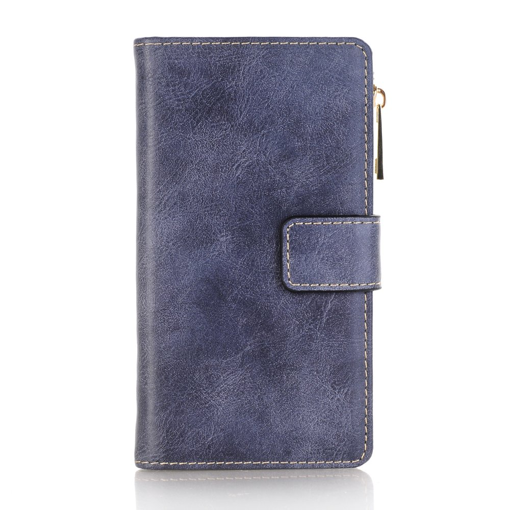 FuriGer iPhone 6 Zipper Wallet Case, Detachable Magnetic Case,Premium PU Leather Wallet Case, Zipper Wallet Case,Magnetic Closure Case with Card Slots for iPhone 6(4.7 inch) - Blue