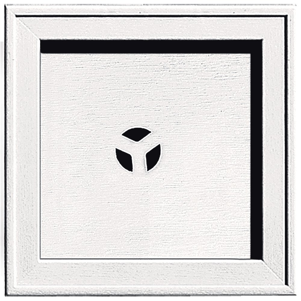 Builders Edge 130110004117 Recessed Square Mounting Block 117, Bright White The TAPCO Group - DROPSHIP