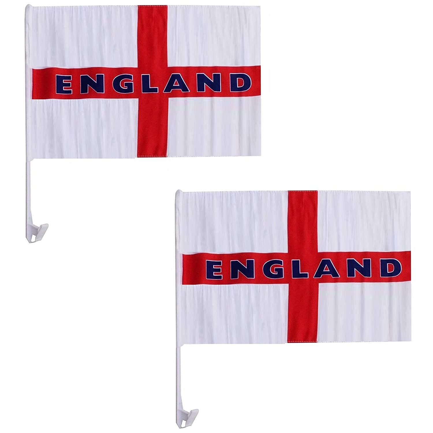 Gr8 Home Set Of 2 England Car Flag National St Georges Cross Pub Window Display Flags Football Supporters Sports Soccer World Cup 2018 Cricket Rugby