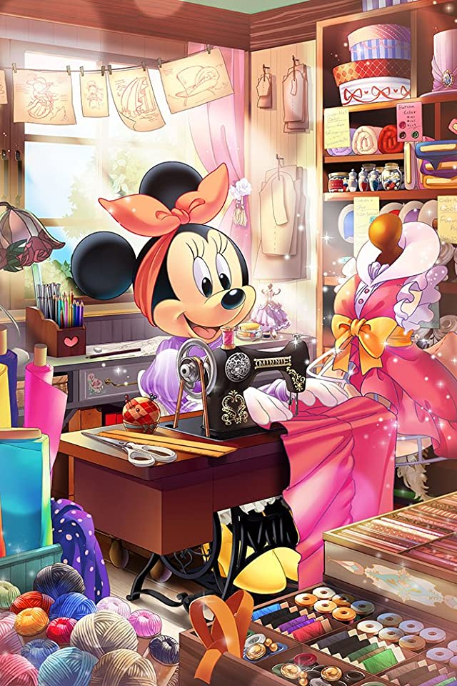 ディズニー ミニーの仕立て屋さん iPhone(640×960)壁紙 画像67384 スマポ