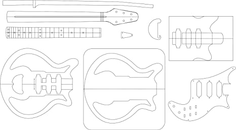 amazon com electric guitar routing template red special musical