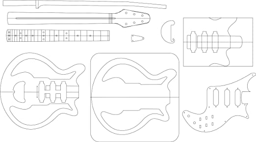 Amazon.com: Electric Guitar Routing Template - Red Special: Musical Instruments