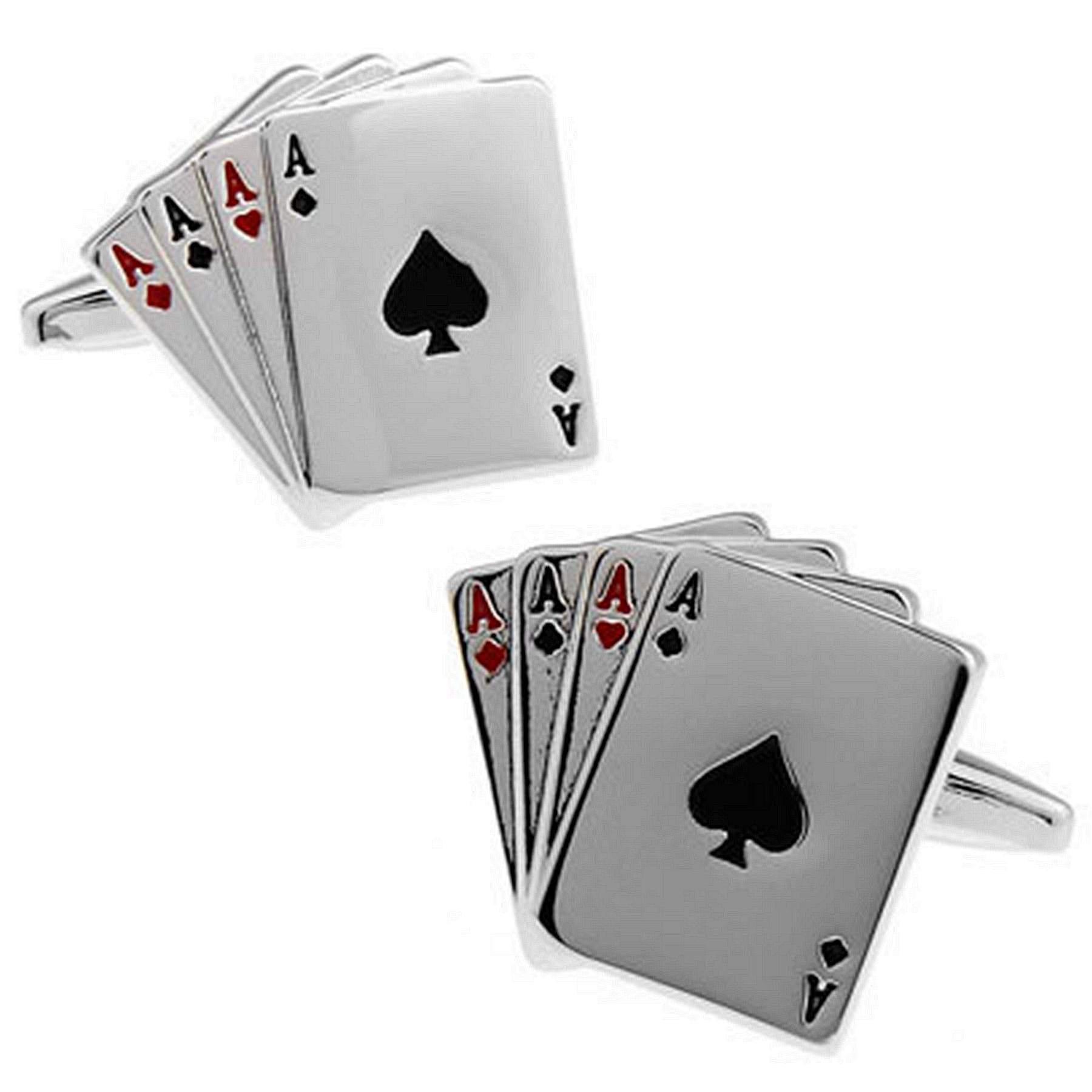 RXBC2011 Men's Poker Style French Shirts Cufflinks 1 Pair Set