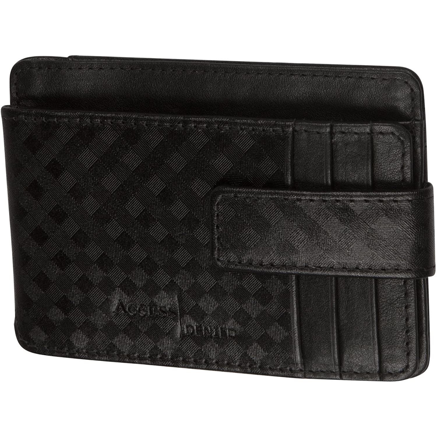 Access Denied RFID Front Pocket Wallet Slim Leather with Flip IT Badge ID