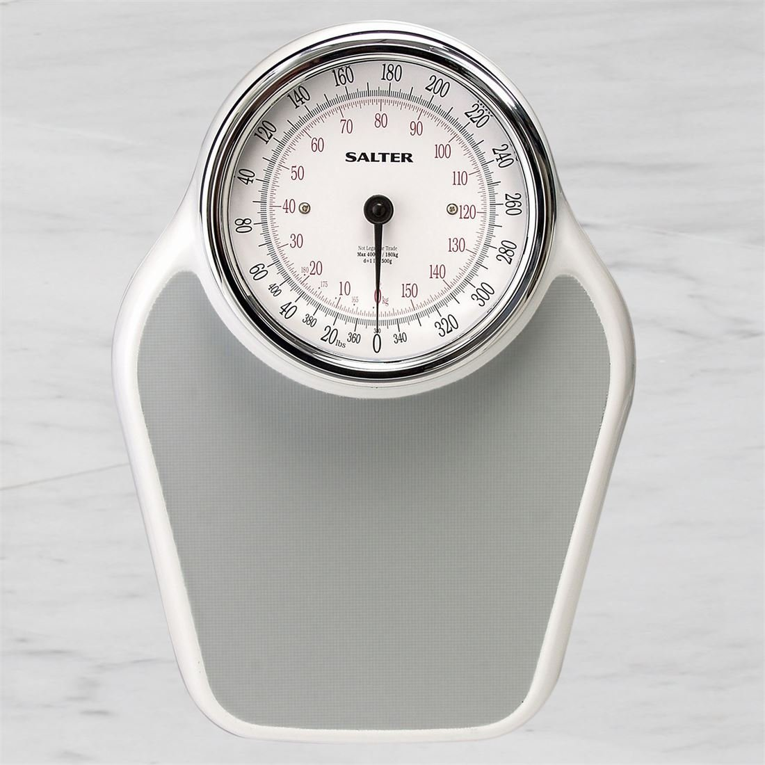 BrylaneHome Doctor's High Capacity Bathroom Scale - Up To 400 Pounds (Silver)