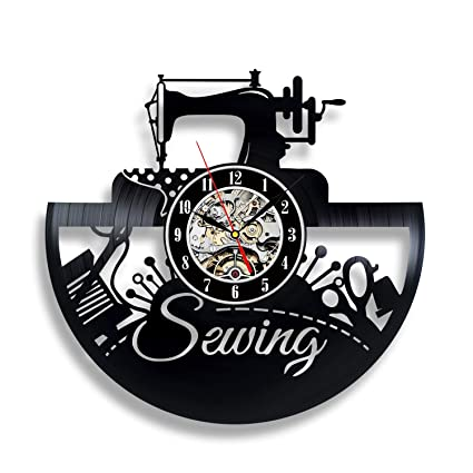 Led Lamps Lights & Lighting 1piece Vintage Sewing Machine Led Wall Lamp Different Sewing Tools Wall Clock Home Decor Wall Watch Seamstress Sign Modern Lamp