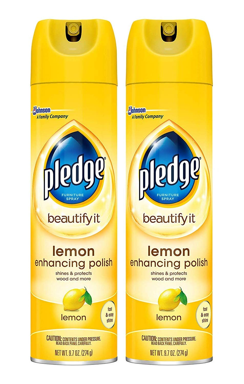 Pledge Lemon Enhancing Polish Yellow, 9.7 ounces, Sold as 2 Pack