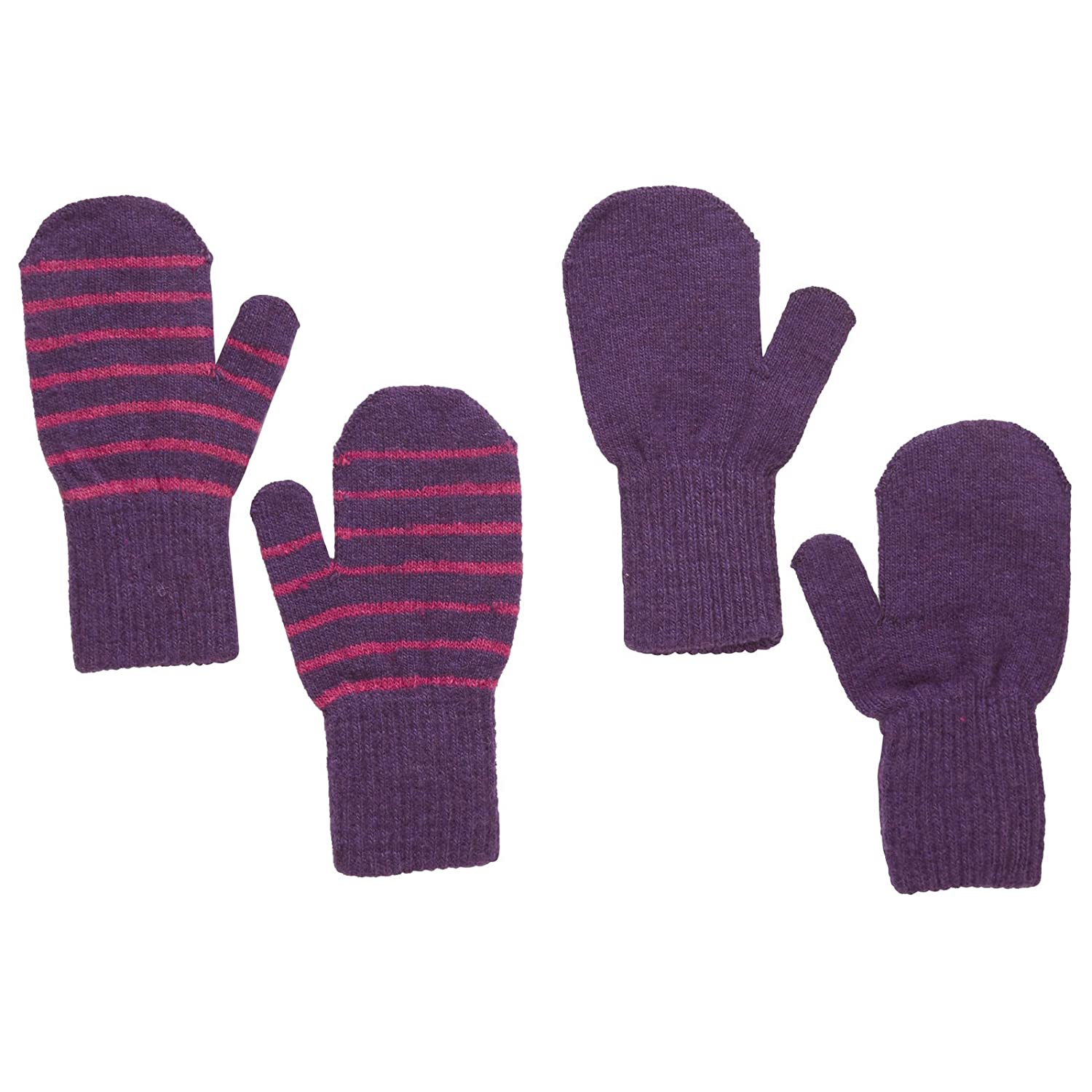 Baby-Toddler Mittens, Purple, 2-Pack (12-24 Months)