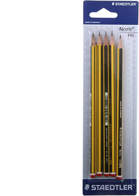 50 HB Pencils Staedtler Noris School Drawing Art Office Free Eraser /& Sharpener