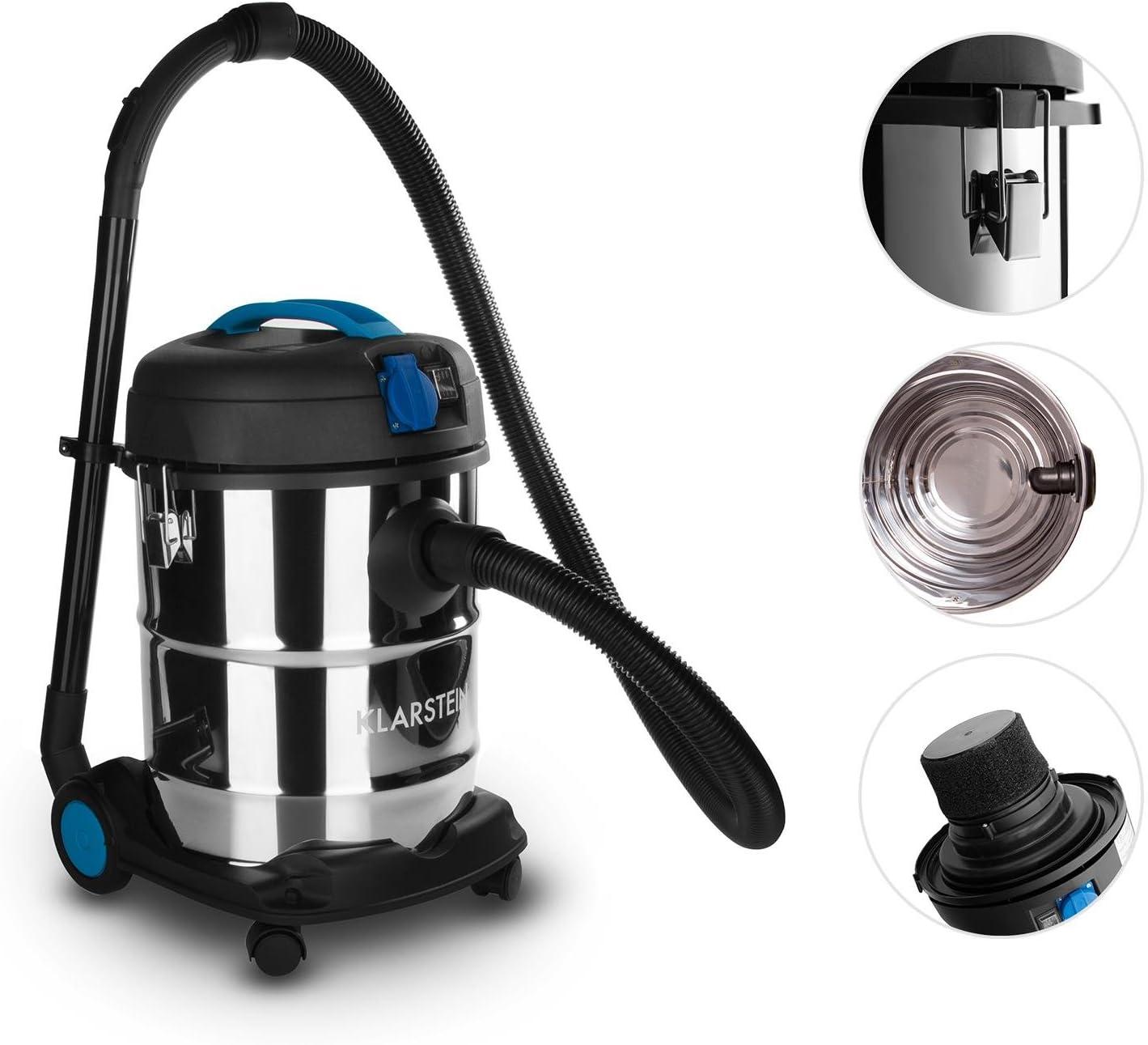 Klarstein Reinraum Prima aspiradora Industrial (25 l, 1200 W, aspiración en seco y húmedo, función de soplado, Toma de Corriente integrada): Amazon.es: Hogar