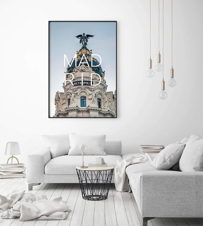 Tableaux Posters Et Arts Decoratifs Decoration Vintage Panorama Poster Coucher Du Ville De Madrid 35 X 50 Cm Imprimee Sur Toile De Grande Qualite Tableau Moderne Pour La Maison Tableau Ville Tableau