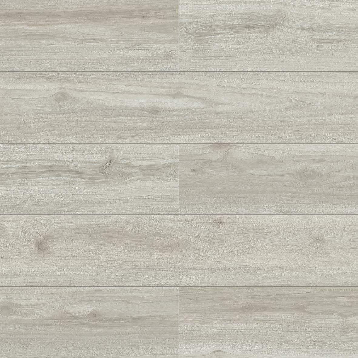 Dotfloor Empire Vinyl Planks Flooring Tiles 28.68 sq.ft Wood Grain with 1.5mm Padding 5.5mm for Home Office Bathroom Maple White