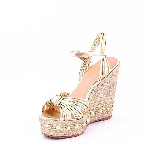 0ce933ec3 Dech Barrouci Class Gold Wedge High Heels Comfortable Fit Ladies Sandals  Girls Sandals Heels Party Wear