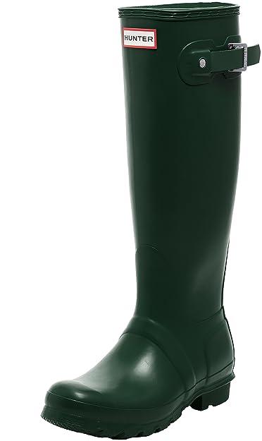 Original Tall Gloss, Bottes en Caoutchouc Femme - Vert - VertHunter
