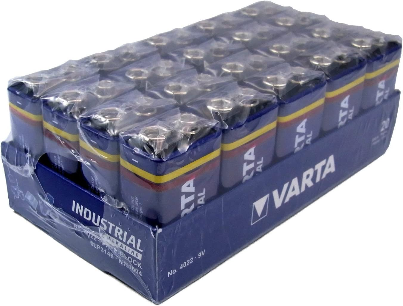 Varta 4022 - Pila alcalina de 9v, pack de 20 unidades