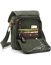 CHEREEKI Messenger Bag [Nuovo Arrivo], Multiple Pockets Canvas Bag Borsa Vintage da Uomo Messenger Bag Casual Sling Shoulder Pack Croce Body Satchel per Lavoro, Scuola