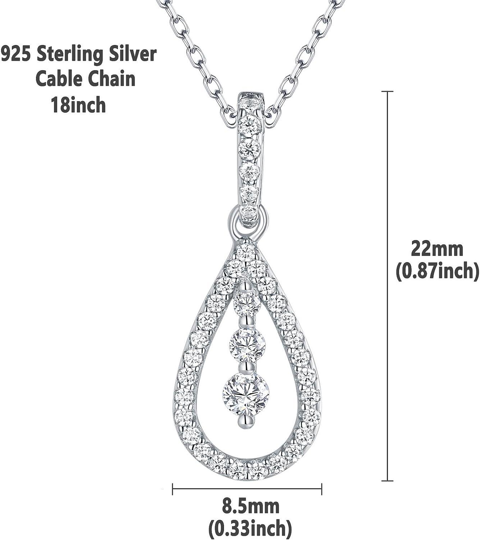 925 Sterling Silver Sparkle-Cut Teardrop Pendant