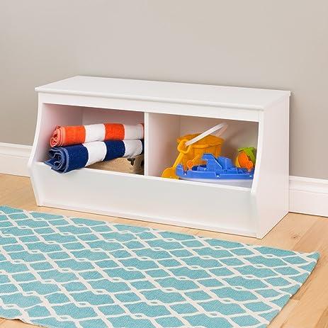 Attractive Prepac Monterey Stackable 2 Bin Storage Cubby, White