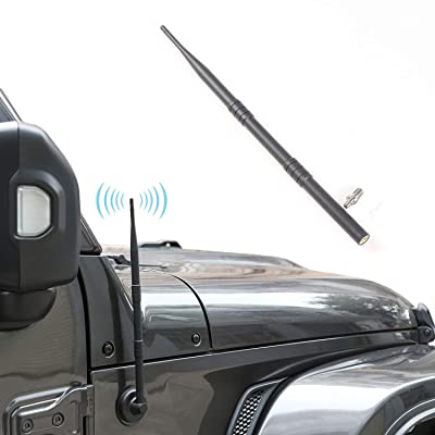 "JeCar Antenna for 2007-2020 Jeep Wrangler JK JKU JL JLU Sahara Rubicon 2/4 Door, 13"" Flexible Car Radio Antenna: Car Electronics"